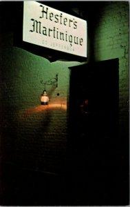 SAVANNAH GA GEORGIA HESTER'S MARTINIQUE Restaurant CHROME POSTCARD