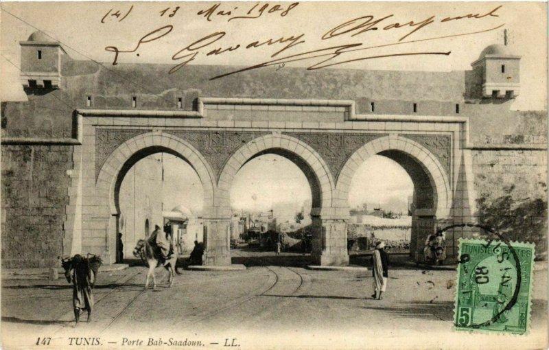 CPA AK TUNISIE TUNIS - Porte Bab Saadoun (239738)