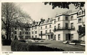 Harrogate, Granby Hotel North Yorkshire England UK RPPC Postcard