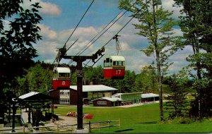 New Hampshire Mt Sunapee State Park Gondolas Leaving Base Station