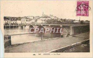 Postcard Joigny Old Bridge