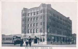 King George Hotel Saskatoon Canada Old Postcard