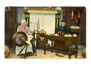 Interior, Gruelen uit DRENTRE, Spinning Wheel- Sewing, Netherlands, 00-10s