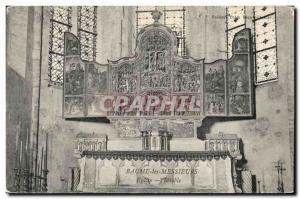 Old Postcard Baume les Messieurs Church Altarpiece