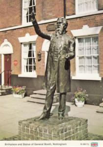 General Booth Nottingham Statue Postcard