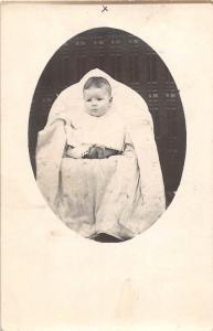 B13/ Springfield Ohio Postcard Real Photo RPPC c1910 Baby Cute 26