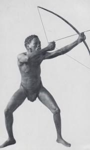 South African Bowman Cape Bushman Museum Primitive Sculpture Statue Art Postcard