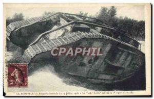 Postcard Old Army Tank Pompelle The German attack of July 15, 1918 Lotte fail...