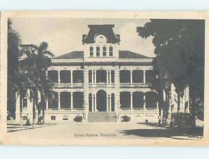 Pinhole Damage 1940's PALACE VIEW Honolulu Hawaii HI d2245