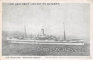 HM Hospital Ship Dunluce Castle  Ship Postcard Post Card Postcard Post Card H...