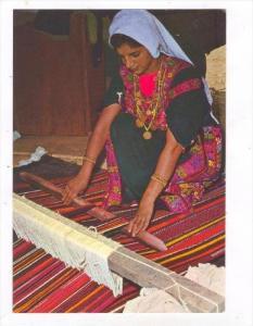 Beduin woman weaving carpet, 50-70s ISRAEL