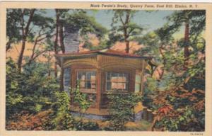 New York Elmira Mark Twain's Study Quarry Farm East Hill 1951 Curteich