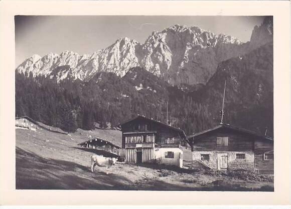 Austria Kaindlhuette mit Scheffauer Real Photo