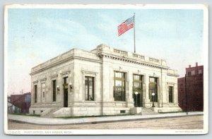 Ann Arbor Michigan~US Post Office Corner~Brick Buildings~#12865 Detroit Pub Co