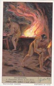 Liebig Vintage Trade Card S1299 Prometheus No 3 Promethee derobe le feu divin
