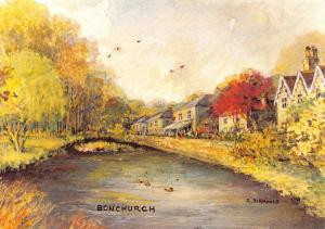 Isle of Wight Postcard Art, Bonchurch by Heather Simmonds RMS P75