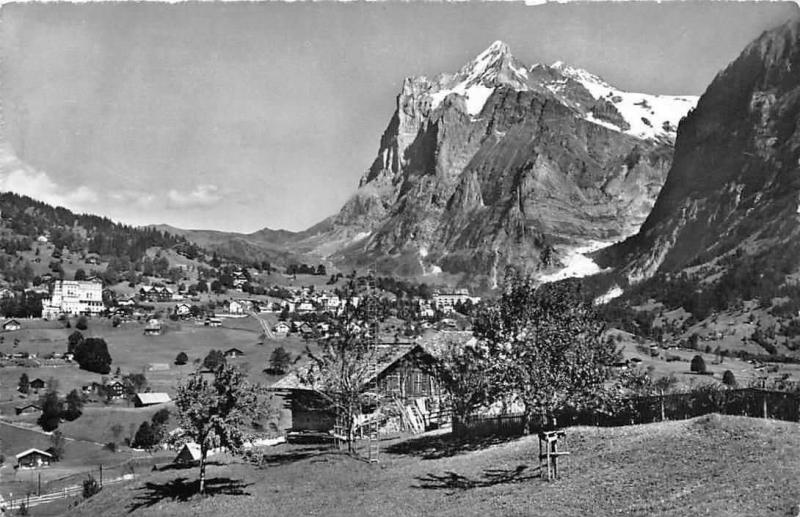 Switzerland Grindelwald Wetterhorn Gesamtansicht Berg Mountain General view
