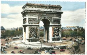 France, Paris, L'arc de triomphe de l'Etoile, 1960 used real photo