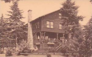 Maine Boothbay Harbor Sprucewold Lodge And Log Cabins Artvue