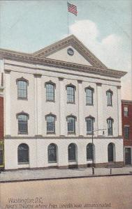 Washington DC Ford's Theatre Where Lincoln Was Assassinated