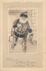 F97/ Santa Claus Christmas Postcard c1910 Fireplace Columbus Ohio 7