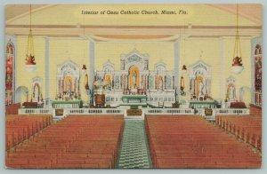 Miami FL~Interior Of Gesu Catholic Church~Photo By Verne Williams~Vintage PC