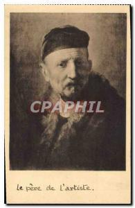 Postcard Old Mauritshuis Museum den HDBFTg Rembrandt Father de L'Artiste