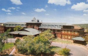 Grand Canyon Nat'l Park Arizona~Fred Harvey El Tovar Hotel~South Rim~Front~1950s