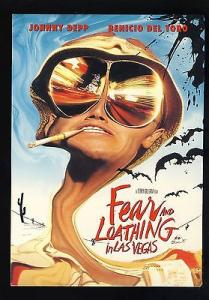 Fear & Loathing In Las Vegas Postcard, Johnny Depp, Benicio Del Toro