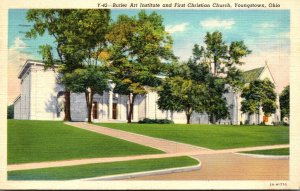 Ohio Youngstown Butler Art Institute and First Christian Church 1941 Curteich