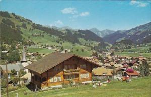 Switzerland Zweisimmen Panorama