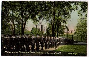 Midshipmen Marching from Quarters, Annapolis Md