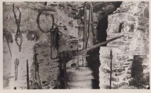 Smithy Cregneash Village Folk Museum Real Photo Isle Of Man Postcard