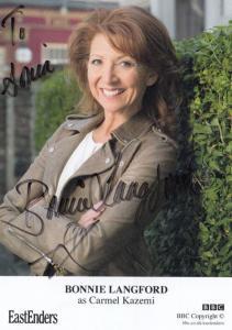 Bonnie Langford as Carmel Kazemi BBC Eastenders Hand Signed Cast Card Photo