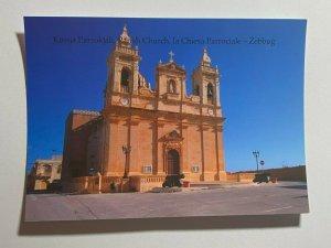 UNUSED PICTURE POSTCARD - GOZO MALTA  ZEBBUG CHURCH  (KK1858)