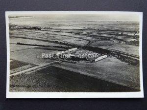 Kent RICHBOROUGH CASTLE Official Royal Air Force Aerial View - Old RP Postcard