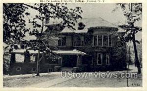 Chi Psi Lodge, Hamilton College Clinton NY Unused