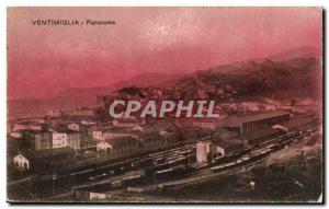 Italia - Italy - Ventimiglia - Panorama - Old Postcard