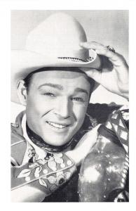 Nostalgia Postcard Western Film Actor Roy Rogers Reproduction Card NS41