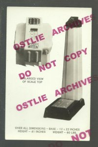 RPPC c1930 ADVERTISING Scales HAMILTON SCALE COMPANY Weight COIN OP Art Deco