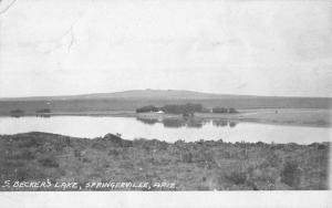 Springerville Arizona Beckers Lake Real Photo Antique Postcard K29994