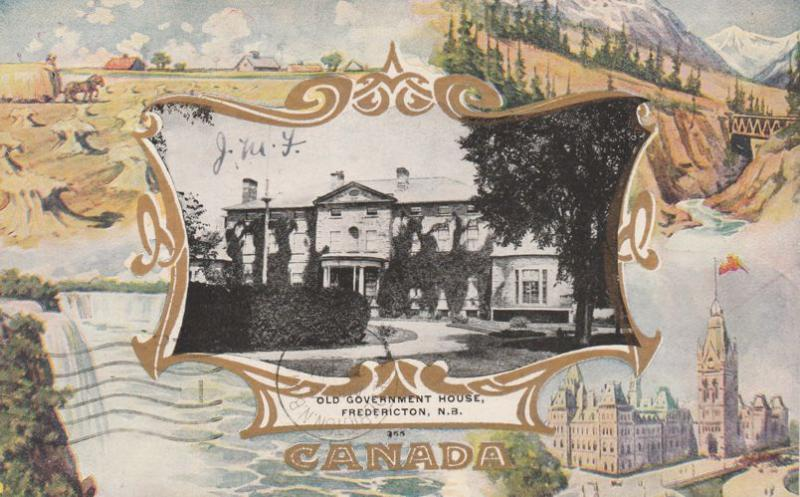 Old Government House at Fredericton NB, New Brunswick, Canada - pm 1907
