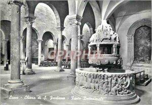 Postcard Modern Lucca Church of St Fredien Baptismal Font