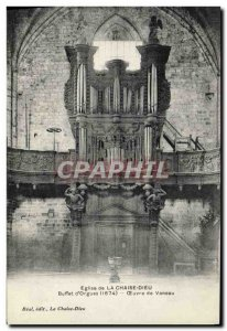 Old Postcard Organ Church of the God of chair Buffet & # 39orgues Work Vaneau