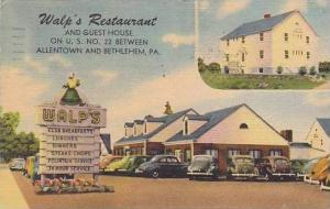 Pennsylvania Allentown And Bethlehem Walps Restaurant And Guest House