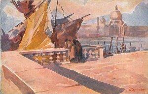 Italy, Venezia, Riva degli Schiavoni artist signed
