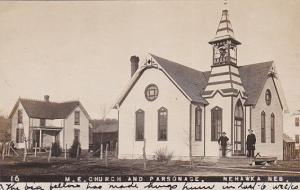 RP: M.E. Church & Parsonage , NEHAWKA , Nebraska , PU-1909