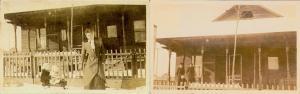 1914 Magna Utah 2 Real Photo Postcards: Dr. McBride's Office & 3 Visitors