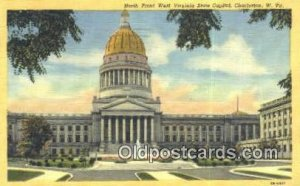 Charleston, West Virginia, WV State Capital USA 1953 postal used 1953