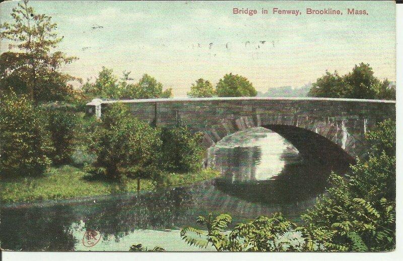 Brookline, Mass., Bridge In Fenway